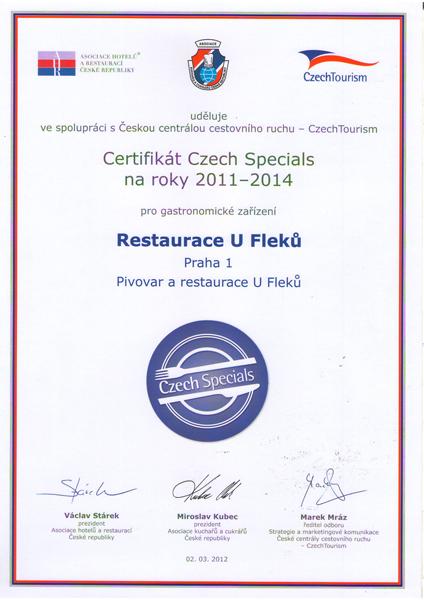 certifikat Czech Special